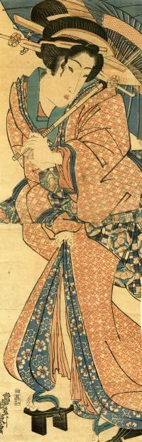 EISEN (1790-1848)  Title: WOMAN UNDER AN UMBRELLA