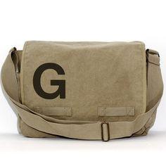 Messenger Bag Monogram Bag Personalized Bag by mediumcontrol