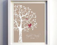 Custom Gift Family Tree Personalized wedding by fancyprints