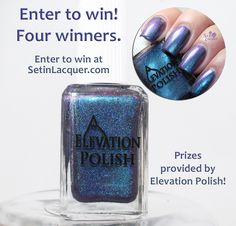 Custom Elevation Polish - Iced Fog of Crystal Reservoir - swatches, giveaway - Set in Lacquer