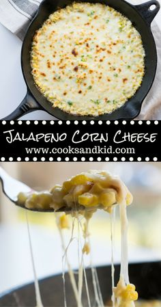 Jalapeno Corn Cheese Recipe for Korean inspired ooey gooey cheese and corn with the kick of ja Jalapeno Corn, Jalapeno Recipes, Corn Recipes, Cheese Recipes, Mexican Food Recipes, Cooking Recipes, Kid Recipes, Corn Cheese, Cheese Dishes