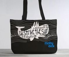 Moby Dick: Organic Cotton Tote Bag