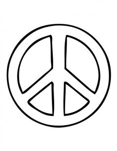 Peace sign coloring pages for kids Cross Coloring Page, Skull Coloring Pages, Coloring Pages For Girls, Coloring Pages To Print, Free Printable Coloring Pages, Free Coloring, Adult Coloring, Coloring Books, Kids Coloring