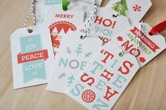 Free (personal use only) printable Christmas Gift Tags!