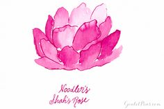 glass bottle of Noodler's Shah's Rose fountain pen ink. Noodlers Ink, Goulet Pens, Hearts And Roses, Dip Pen, Fountain Pen Ink, Rose Art, Pen And Paper, Summer Of Love, Glass Bottles