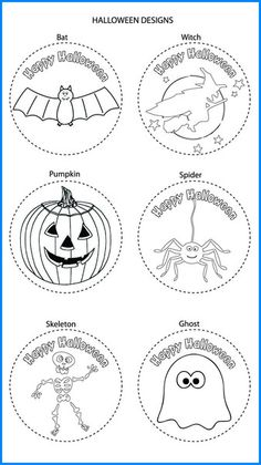 Halloween Mixed Designs - Colour In Yourself Badges Badges, Colour, Halloween, Prints, Design, Art, Book, Activities For Kids, Color