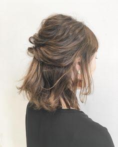 Media Hair Design For Wedding, Hair Arrange, Lob Hairstyle, Hair Designs, Updos, Wedding Hairstyles, Hair Beauty, Dreadlocks, Long Hair Styles