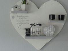 Mooi hart tekstbord gemaakt