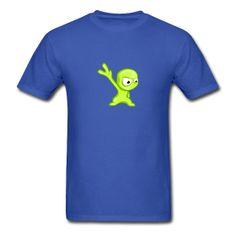 Green Alien T-Shirt #Tshirt #GreenAlien #Toon #Cartoon #Alien #Extraterrestrial Classic-cut standard weight t-shirt for men, 100% pre-shrunk cotton, Brand: Gildan