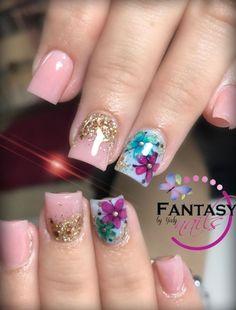 Square Nail Designs, Nail Art Designs, Nails Design, Nails & Co, Gel Nails, Perfect Nails, Gorgeous Nails, Cute Nails, Pretty Nails