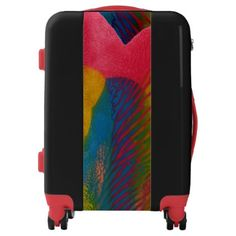 Travel easy with Unique luggage from Zazzle. With a marketplace full of great designs you'll find a one-of-a-kind suitcase. Luggage Suitcase, Custom Luggage, Suitcases, Trunks, Colorful, Abstract, Unique, Artwork, Bags
