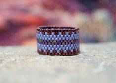 PEYOTE RING  October Dusk by PeyoteRings on Etsy