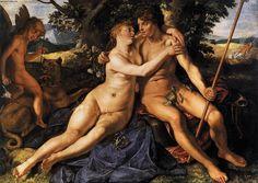 Venus y Adonis. Hendrick Goltzius (1614).