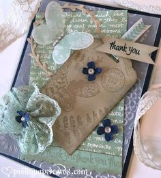 Shabby Chic Thank You! - Pretty Paper Cards