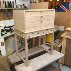 Haberdashery / collectors chest ready for finishing. Harvey Furniture, Haberdashery, Craft Items, Wooden Boxes, Furniture Design, Table, Crafts, Home Decor, Wood Boxes