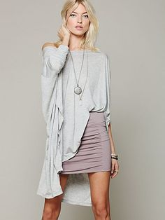 Free People High Waisted Scrunch Skirt at Free People Clothing Boutique