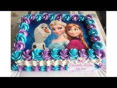 Elsa Birthday Cake, Frozen Birthday Outfit, Birthday Sheet Cakes, Frozen Themed Birthday Party, Disney Frozen Birthday, 2nd Birthday Party Themes, Disney Frozen Cake, Frozen Frozen, Carnival Birthday