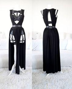 Deep Neckline Dress