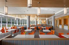 Studies have shown that patients strongly consider hospital amenities, like the dining space pictured here at Mercy West Hospital in Cincinnati, as well as reported clinical outcomes when choosing a hospital. Photo: ©Scott Pease/Pease Photography 2013.