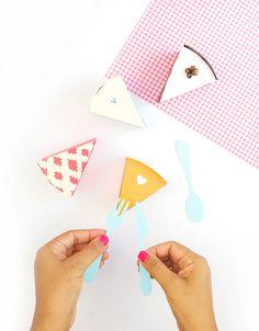 Paper Pie Treat Boxes DIY