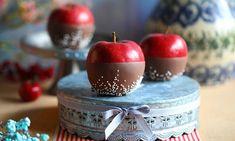 Jabłka w polewie mlecznej Caramel Apples, Cherry, Fruit, Desserts, Food, Tailgate Desserts, Deserts, Essen, Postres