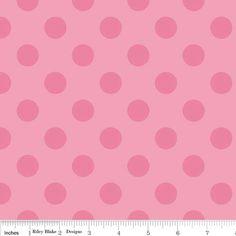 1/2 yard - Flannel Raincoat Liner - Medium Dot Tone On Tone Hot Pink by RainyDayJayne on Etsy
