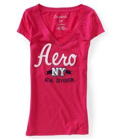 Aero NY Athletics V-Neck Graphic T - Aeropostale