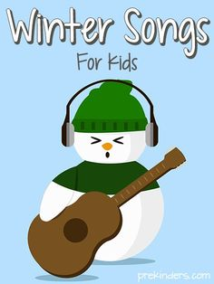 Winter Songs for Kids - add singing and movement to cold winter days! New winter songs that the the students would enjoy during circle time. Kindergarten Music, Preschool Music, Music Activities, Preschool Activities, Winter Activities, Winter Songs For Preschool, English Activities, Fun Games, Winter Songs For Kids