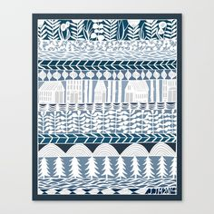 Buy rows and rows Canvas Print by jenniferjuddmcgee. Worldwide shipping available at Society6.com. Just one of millions of high quality products available.