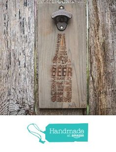 Bottle Opener Wall Mount, Personalized Drinks Tray, Craft Beer Flight, Wall beer bottle opener with cap catcher, Engraved Beer Bottle Opener
