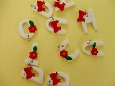 Martisoare litere Handmade Ideas, Bulgarian, Diy Crafts, Crafty, Spring, March, Diy, Fimo, Bulgarian Language
