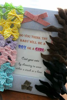 stash or a bow make these pins for guests to wear at a baby shower