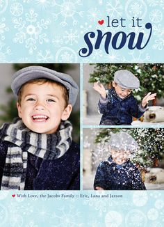 Let Snow Snowflakes Photo Holiday Card