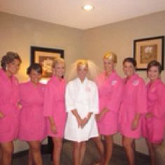 Monogrammed robes for bridesmaids...cute idea and something they can use AFTER the wedding