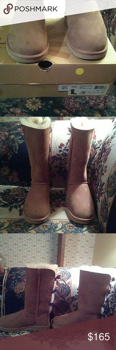 Bailey tall bow uggs boots sz 5 chestnut new n box Brand new.  Never worn.  Please see my listings for more ugg boots like this. uggs Shoes Winter & Rain Boots