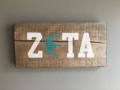 FREE SHIPPING Zeta Tau Alpha wood handmade sign by TheOwlsHootShop