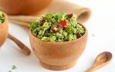This delicious raw broccoli salad has a flavorful Italian twist.