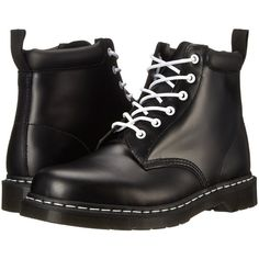Dr. Martens 939 (Black Smooth) Boots ($50) ❤ liked on Polyvore featuring shoes, boots, ankle booties, ankle boots, black, black ankle booties, leather booties, black platform booties and leather boots