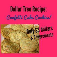 Dollar Tree Recipe: Cake Mix Cookies