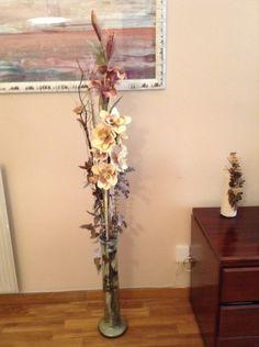 Flor artificial con rama de eucalipto jarrones flores - Jarrones flores artificiales ...