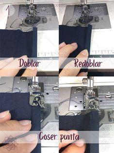 Costura fácil 3 formas de coser un dobladillo. Tutorial de costura. Costura fácil paso a paso. Técnicas de costura. Aprender a coser. Costura para principiantes. Design Blog, Ideas Para, Singer, Sewing, Bane, Tips, Sewing Trim, Sewing Rooms, Sewing Lessons