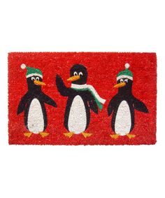 Look what I found on #zulily! Red Penguin Doormat by Entryways #zulilyfinds