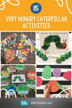 From growing a grassy caterpillar to crafting a paper plate caterpillar, students love these The Very Hungry Caterpillar activities. Hungry Caterpillar Classroom, The Very Hungry Caterpillar Activities, Caterpillar Craft, We Are Teachers, Eric Carle, Teaching Kindergarten, Early Childhood Education, Preschool Activities, Fun