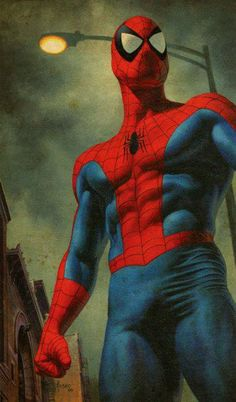 "#Spiderman #Fan #Art. (Spider-Man  ""Down These Mean Streets"" Cover) By: Joe Jusko. (THE * 5 * STAR * AWARD * OF * ÅWESOMENESS!!!™)"