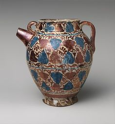 1435–75 Geography: Made in probably Manises, Valencia, Spain Culture: Spanish Medium: Tin-glazed earthenware Dimensions: Overall: 8 1/2 ...