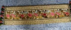 Vintage Brogade Floral Table Runner with tassels/ table decor/home decor/ by kd15 on Etsy