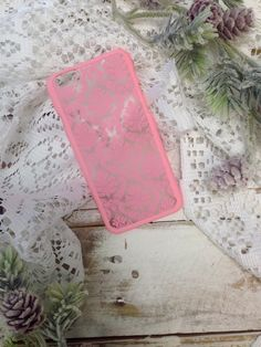 DAMASK lace cell phone cover for iphone 6 - pink