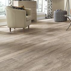 Mannington Manor Oak Thick x Wide x Length Engineered Hardwood Flooring Distressed Hardwood Floors, Light Hardwood Floors, White Oak Floors, Engineered Hardwood Flooring, Most Durable Flooring, Modern Flooring, Flooring Ideas, Kitchen Flooring, Grey Wooden Floor