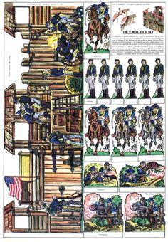 Paper Toys, Paper Crafts, Papercraft Anime, Model Castle, Free Paper Models, Confederate Flag, Cowboys And Indians, Vintage Farm, Le Far West