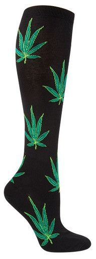 Puff, puff, pass these socks to the most important stoner in your life. In two fitting hues, these knee highs are all you need to take your trip to the next level. Nothing says you care more than colo